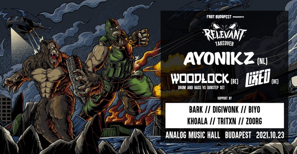 FRAT pres: RELEVANT Takeover w/ AYONIKZ, WOODLOCK, LIXED // 10.23.