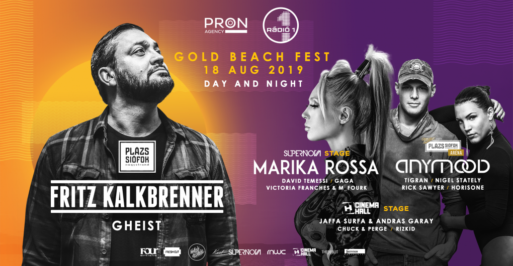 Fritz Kalkbrenner / Gold Beach Electronic Fest / 08.18. Plázs