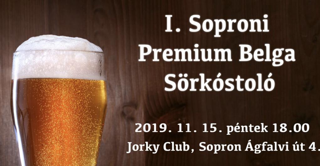 I. Soproni Premium Belga Sörkóstoló